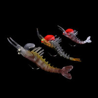 5 Segmented Fishing Lures Prawn Shrimp Lure Luminous Soft Bait Fishing Tackle SY