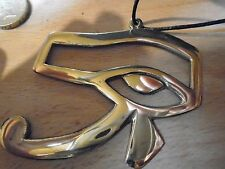 EYE OF HORUS  STUNNING BRONZE NECKLACE VERY LARGE 90 mm wide SOLID BRASS UNIQUE