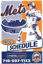 Shea Stadium New York Mets David Wright,Jose Reyes 2008 Final Season Schedule