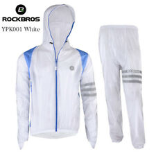 RockBros Mens Cycling Waterproof Rain Jacket Running Full Sleeve Suits Yellow L