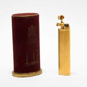 Dunhill Sylph Art Deco Gold bathed bencine Lighter 1930s Original Box