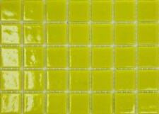 225 Matte Yellow Vitreous Glass Mosaic 20mm Tiles A90