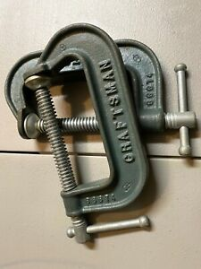 TPG - Craftsman Original Heavy Duty C Clamp Vise Set 66674 Malleable USA A+++