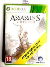 Assasins Creed 3 Xbox 360 Videojuego Nuevo Precintado Promo Sealed Brand New EUR