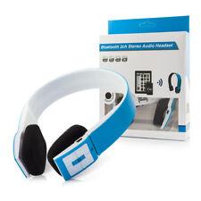 Bluetooth Kopfhörer Earphones Stereo Headset Blau Kabellos wireless Micro Blue