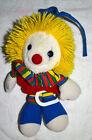 "Vintage 1987 Dakin Clown Crib Pull Toy Plush Retractable Musical ""This Old Man"""