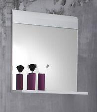 Bad Spiegel Mit Ablage In Weiß Hochglanz 60 Cm Badmöbel Badezimmerspiegel  Skin