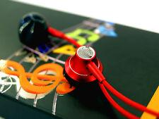 Auriculares aluminio y nylon rojo in ear para movil con mando control