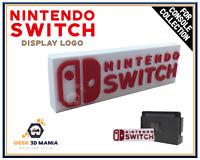 NINTENDO SWITCH Logo Stand Display Déco pour Collection de Jeu Vidéo Geek Gaming