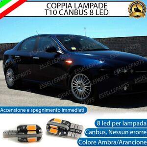 COPPIA LAMPADE FRECCE LED LATERALI ALFA ROMEO 159 , BRERA CANBUS NO ERRORE
