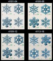 4101-04 4105-08 4109-12 4113-16 Holiday 2006 Snowflake Set 4 Blocks MNH -Buy Now