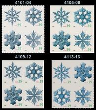 Holiday 2006 Snowflake Set 4 Blocks 4101-04 4105-08 4109-12 4113-16 MNH -Buy Now