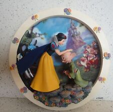 Disney Snow White Fairest One of Them All 3D Plate 1st Issue Bradford Exchange