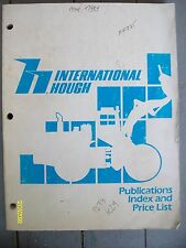 Original 1984? International Hough Publications Index Price List 20-sections