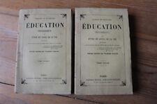 MMe NECKER de SAUSSURE - Education progressive - ed. garnier, sd - 2 volumes
