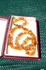Stunning Vintage Polished Agate Stone Necklace 44cms