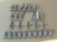 MINIATURE FIGURINES Napoleonic 27 x 25mm French Infantry Asst Metal Unpainted