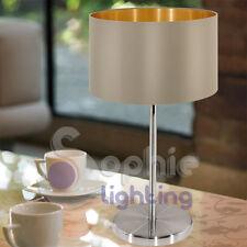 Lampada tavolo lume abat jour comodino tavolo moderno paralume tortora oro comò