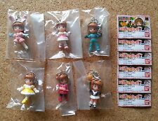 Japan Bandai CARD CAPTOR SAKURA SWING HEROINE FULL SET 6 Keychain Figures clamp