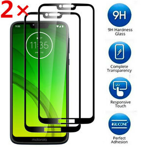 For Motorola G7 G8 Plus Power Full Cover Tempered Glass Screen Protector Film