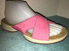 Rockport Pink Suede Leather Slides/ Sandals Size 7 1/2 M