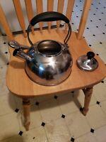 Whistling Tea Kettle Pot + Lid STAINLESS STEEL SL37-UPT Silver CHANTAL 1.8 Qt