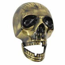 Antique Brass Deluxe Skull Door Knocker