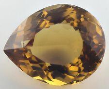 18.5x15mm PEAR-FACET NATURAL BRAZILIAN GOLDEN CITRINE GEMSTONE (APP £467)