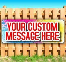 CUSTOM DESIGN BANNER Advertising Vinyl Banner Flag Sign Many Sizes USA