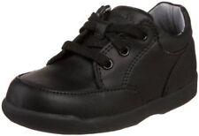 Shoes Boys Black Leather Tie StrideRite Walking Shoes Infants SZ  6 1/2 Wide
