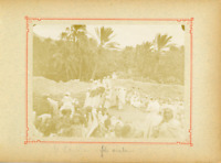 Algérie, El Kantara (القنطرة), Fête arabe  Vintage citrate print.  Tirage citr