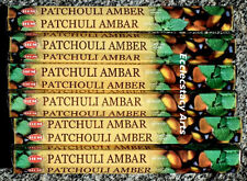 Hem Patchouli Amber Incense 6 x 20 stick, 120 Sticks