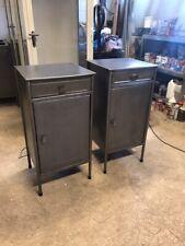 2 Polished metal bedside cabinet- vintage industrial- several designs
