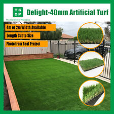 Delight 40mm 4 Tone Artificial Grass Synthetic Turf  Lawn Carpet 2m or 4m Width