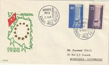 1958 Turkey FDC cover EUROPA