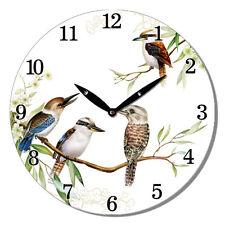 Wall Clock Kookaburra Australian Bird Hanging Art Ornament Home Décor 29 cm