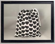 Gymnastics Leotard Grip Bags / Black n White Hearts Gymnast Birthday Goody Bag