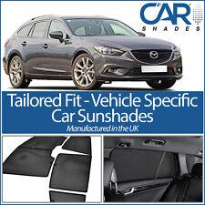 Mazda 6 Estate 2012 On UV CAR SHADES WINDOW SUN BLINDS PRIVACY GLASS TINT BLACK