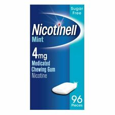 Nicotinell Nicotine Gum Stop Smoking Aid 4 mg Mint 96 Pieces FREE DELIVERY