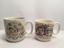 Prince Charles And Lady Diana July 1981 Wedding Marriage Mugs Royal Memorabilia