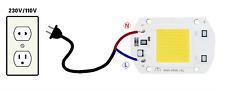 High Power COB LED Chip 50W direkt 230V Warmweiß Stromversorgung nicht notwendi