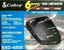 NEW Cobra Radar Detector ESD-6500 6 Band VG-2 FREE SHIPPING