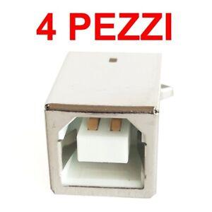 DealMux Connettore di Alimentazione CC Maschio 6 Pezzi in plastica con Protezione del Cavo da 2,1x5,5 mm