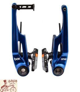 BOX COMPONENTS ONE REAR LINEAR V-BRAKE BLUE BRAKE--108mm LENGTH ARMS