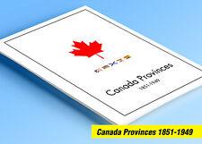 COLOR PRINTED CANADA PROVINCES 1851-1949 STAMP ALBUM PAGES (25 illustr. pages)