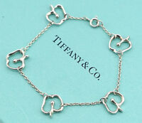 TIFFANY&Co Apple Charm Bracelet Peretti Silver 925 Bangle w/BOX NN