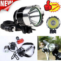 5000LM CREE XM-L T6 LED Bike Head Light Bicycle Headlamp Rechargeable Light lot