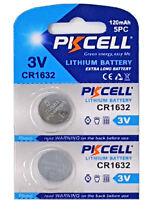2 x CR1632 3V Lithium Batterie 120 mAh ( 1 Blistercard a 2 Batterie  PKCELL)