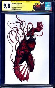Absolute Carnage #5 LCSD WHITE VIRGIN VARIANT COMIC CGC SS 9.8 signed JTC