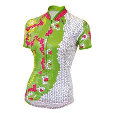 SheBeest Bellissima SS Jersey - Women's Cycling Top - MONARCH Keylime - Size M